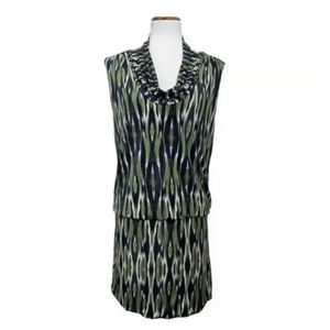 Michael Kors Draped Ikat Tunic Dress Medium